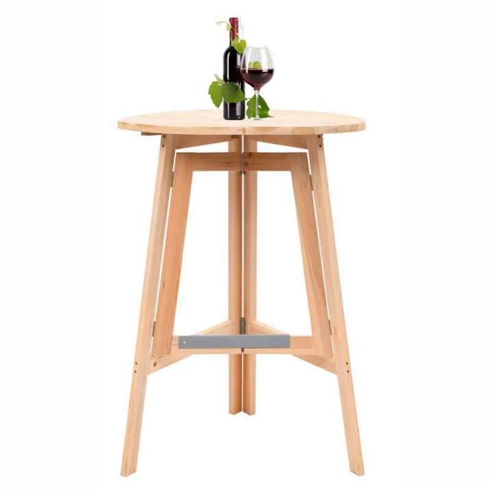 Összecsukható party asztal, natúr színű, könnyen hordozható és tárolható