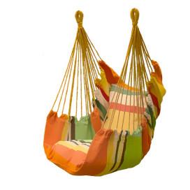 Függőszék párnával, narancssárga színű