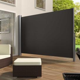 Kihúzható árnyékoló és térelválasztó fal - Sötétszürke színben - 160 x 300 cm