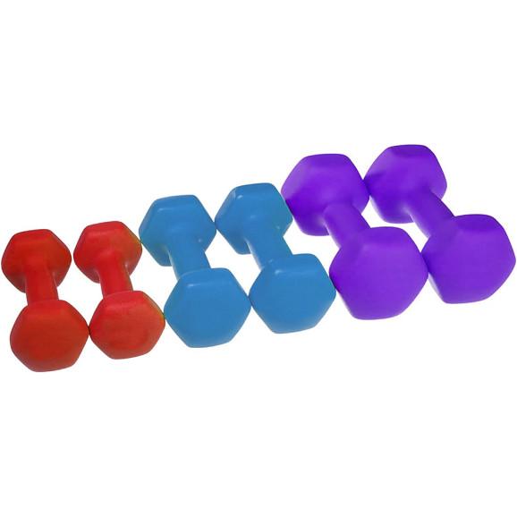 6 db-os kézi súlyzó szett, hordozótáskával