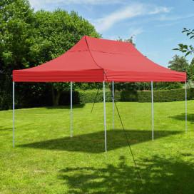 Összecsukható kerti pavilon 2,9x5,7m piros