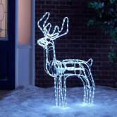 1 méteres, luxus LED szarvas / mozgó fejű, extra karácsonyi dekoráció