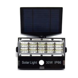 Vezeték nélküli utcai ledlámpa / Napelemről töltődő reflektor 30W