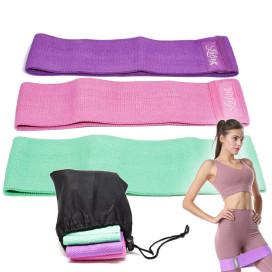 Elasztikus fitnesz szalag – edzőszalag szövetből / bármely izomcsoport edzésére (LT-003)