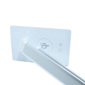 LED asztali lámpa vezeték nélküli mobiltöltővel – 10W / ezüst színben