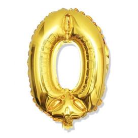 """Arany fóliaszámok szülinapra – """"0"""" / 100 cm"""
