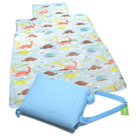 Piknik matrac 150x135 cm – vállra akasztható / világoskék