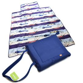 Piknik matrac 150x135 cm – vállra akasztható / sötétkék