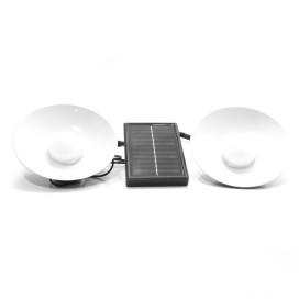 Napelemes kültéri LED lámpa – 2 db lógó lámpa, búrával / felakasztható
