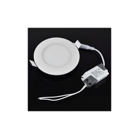 6W SMD kerek LED panel / 100 mm átmérő, beépíthető, meleg fehér