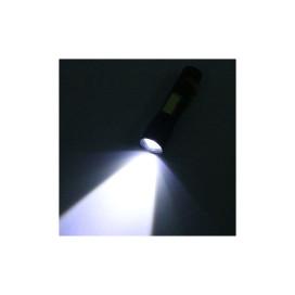 USB-ről tölthető Tech Light LED lámpa piros-kék villogóval és zoom funkcióval