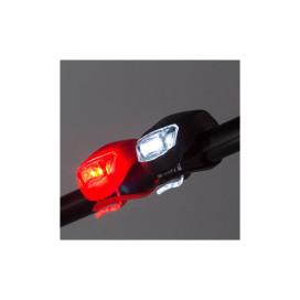 Szilikonházas kerékpáros lámpa szett - első és hát...