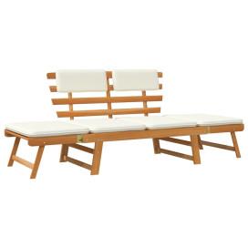 2 az 1-ben tömör akácfa kerti pad párnákkal 190 cm - utánvéttel vagy ingyenes szállítással
