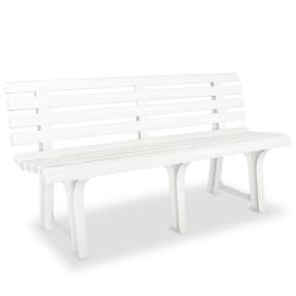 Fehér műanyag kerti pad 145,5 cm - utánvéttel vagy ingyenes szállítással