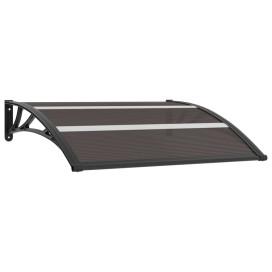 Fekete polikarbonát ajtóelőtető 120 x 80 cm - utánvéttel vagy ingyenes szállítással