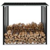 Antracit horganyzott acél tűzifatároló 172 x 91 x 154 cm - utánvéttel vagy ingyenes szállítással