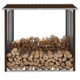 Barna horganyzott acél kerti tűzifatároló 172 x 91 x 154 cm - utánvéttel vagy ingyenes szállítással