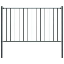Antracitszürke porszórt acél kerítéspanel oszlopokkal 1,7x0,75 - utánvéttel vagy ingyenes szállítással