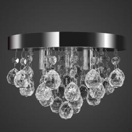 Mennyezeti függő lámpa kristály csillár króm - utá...