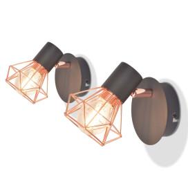 Falilámpa 2 db 8 W-os LED izzós villanykörtével - utánvéttel vagy ingyenes szállítással