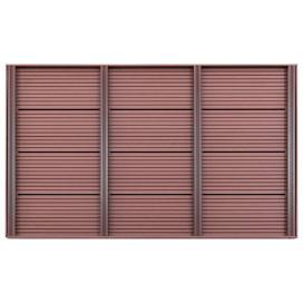 Barna WPC padlóelem szolárzuhanyhoz 101 x 63 x 5,5 cm - utánvéttel vagy ingyenes szállítással