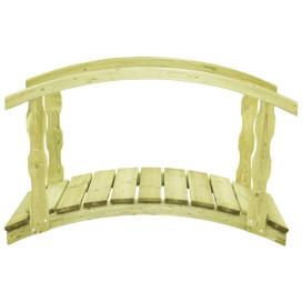 Impregnált fenyőfa kerti híd korláttal 170 x 74 x 105 cm - utánvéttel vagy ingyenes szállítással