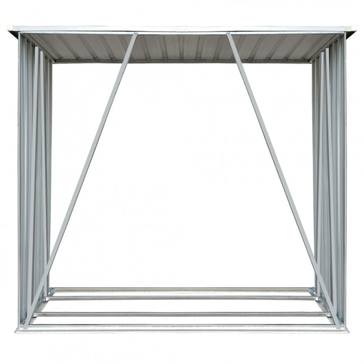 Zöld horganyzott acél kerti tűzifatároló 163 x 83 x 154 cm - utánvéttel vagy ingyenes szállítással