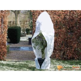 Nature fehér téli cipzáras gyapjútakaró 70 g/m2 1,5 x 1,5 x 2 m - utánvéttel vagy ingyenes szállítással