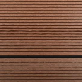 Barna WPC és rozsdamentes acél kültéri zuhanytálca 110 x 62 cm - utánvéttel vagy ingyenes szállítással