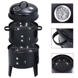 3 az 1-ben faszenes füstölő grillsütő 40 x 80 cm - utánvéttel vagy ingyenes szállítással