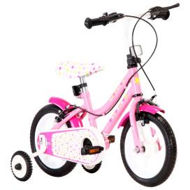Fehér és rózsaszín gyerekbicikli 12