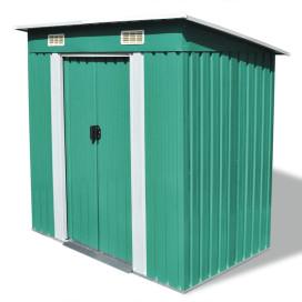 Zöld fém kerti fészer - utánvéttel vagy ingyenes szállítással
