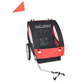 Piros és fekete gyerek kerékpár utánfutó 30 kg - utánvéttel vagy ingyenes szállítással