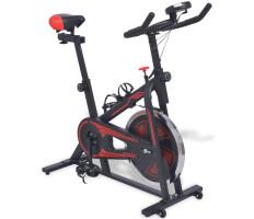 Fekete-piros spinning szobabicikli pulzusmérővel - utánvéttel vagy ingyenes szállítással
