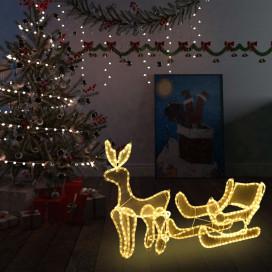 Karácsonyi rénszarvas és szán hálós díszvilágítás 216 LED-del - utánvéttel vagy ingyenes szállítással