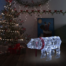 Akril medve világító karácsonyi dekoráció 45 LED-del 71x20x38cm - utánvéttel vagy ingyenes szállítással