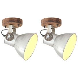 2 db ezüstszínű ipari fali-/mennyezeti lámpa 20 x 25 cm E27 - utánvéttel vagy ingyenes szállítással