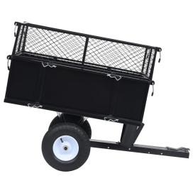 150 kg-os teherbírású billenős pótkocsi fűnyírótraktorhoz - utánvéttel vagy ingyenes szállítással