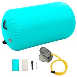 Zöld PVC felfújható tornahenger pumpával 100 x 60 cm - utánvéttel vagy ingyenes szállítással