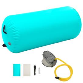 Zöld PVC felfújható tornahenger pumpával 120 x 75 cm - utánvéttel vagy ingyenes szállítással