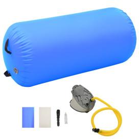 Kék PVC felfújható tornahenger pumpával 120 x 90 cm - utánvéttel vagy ingyenes szállítással