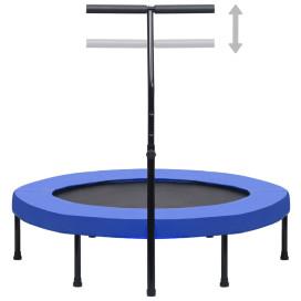 Fitnesz trambulin kapaszkodóval és biztonsági párnázással 122 cm - utánvéttel vagy ingyenes szállítással