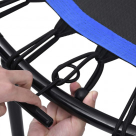 Fitnesz trambulin kapaszkodóval és biztonsági párnázással 102 cm - utánvéttel vagy ingyenes szállítással