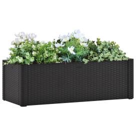 Antracitszürke kerti magaságyás öntözőrendszerrel 100x43x33cm - utánvéttel vagy ingyenes szállítással