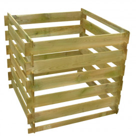 Négyzet alakú fa komposztáló láda 0,54 m3 - utánvéttel vagy ingyenes szállítással