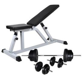 Edzőpad egykezes és kétkezes súlyzókészlettel 60,5 kg - utánvéttel vagy ingyenes szállítással