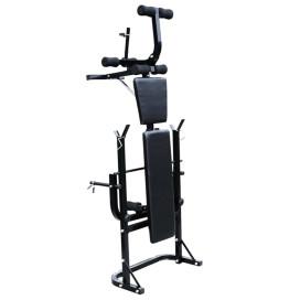 Súlyzópad állvánnyal, egykezes és kétkezes súlyzószettel 60,5 kg - utánvéttel vagy ingyenes szállítással