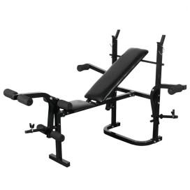 Súlyzópad állvánnyal, egykezes és kétkezes súlyzószettel 30,5 kg - utánvéttel vagy ingyenes szállítással
