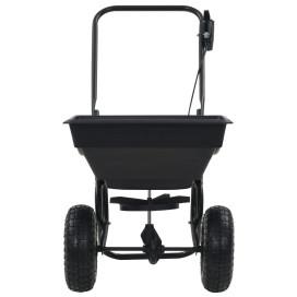 Tolható sószóró kocsi PVC/acél 92 x 46 x 70 cm 15 literes - utánvéttel vagy ingyenes szállítással