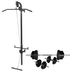 Falra szerelhető edzőtorony súlyzókészlettel 60,5 kg - utánvéttel vagy ingyenes szállítással